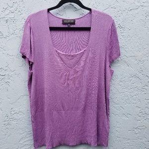 Jones New York| Slinky Lavender Blouse